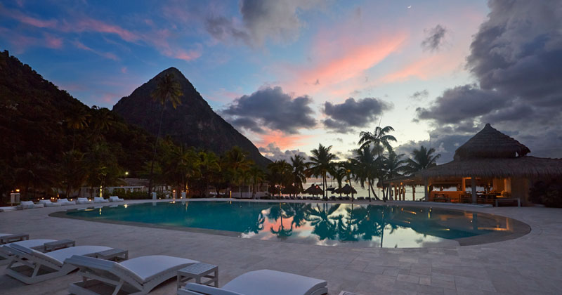 Sugar Beach Resort, St Lucia