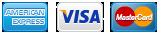 American Express - Visa - Mastercard