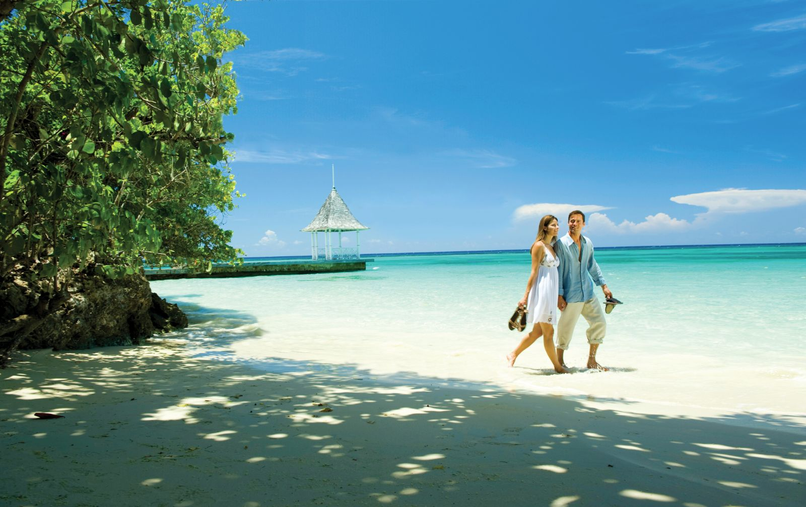 Couple on Jamaican Beach